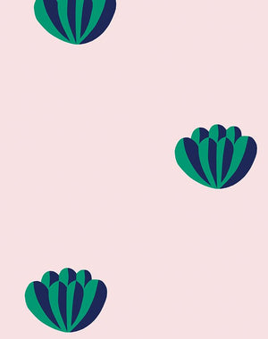 Lotus Navy Shell  Wallpaper