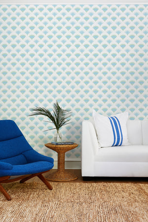 Lotus Papyrus Blue Green  Wallpaper