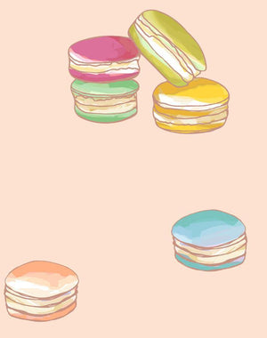 Macarons Peach  Wallpaper