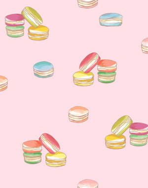 Macarons Pink  Wallpaper