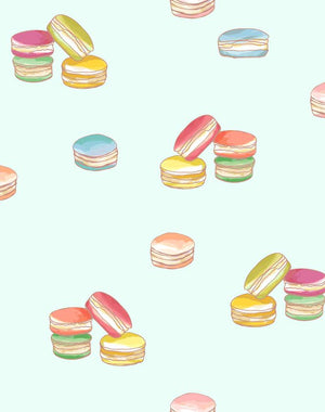 Macarons Robins Egg  Wallpaper