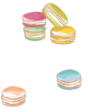 Macarons White  Wallpaper