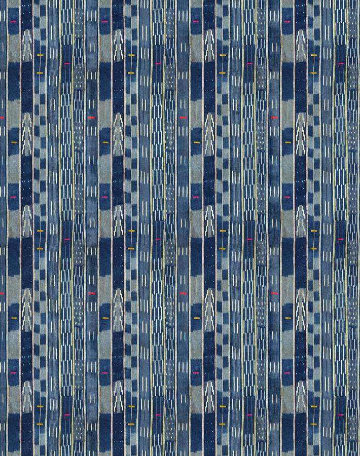 Madison Stripe Small Indigo  Wallpaper