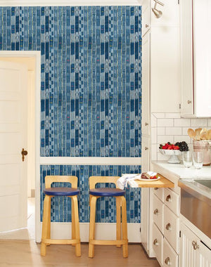 Madison Stripe Small Blue  Wallpaper