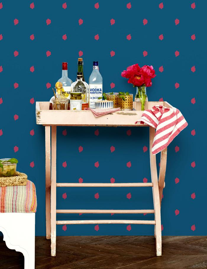 Medina Dot Wallpaper - Rose - Wallshoppe