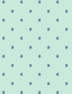 Medina Dot Aloe Whale Aqua  Wallpaper