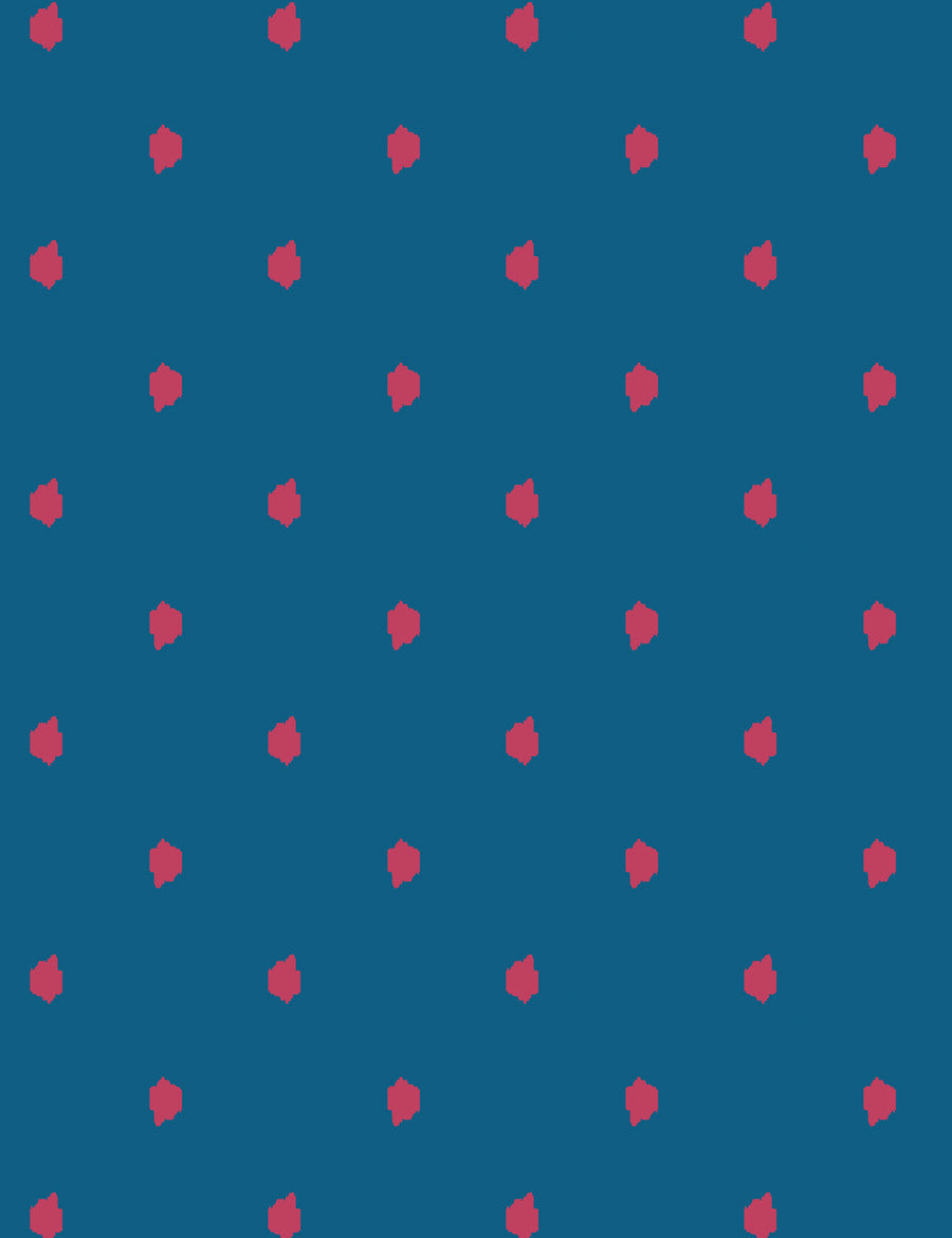 Medina Dot Rose Cadet Blue  Wallpaper