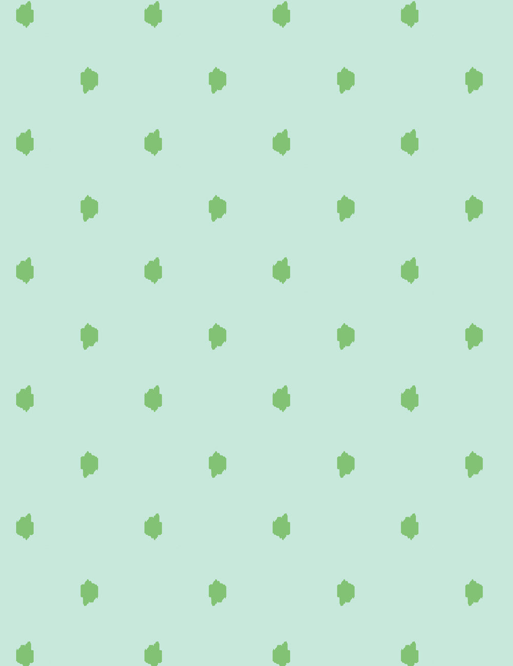 Medina Dot Aloe Mint  Wallpaper