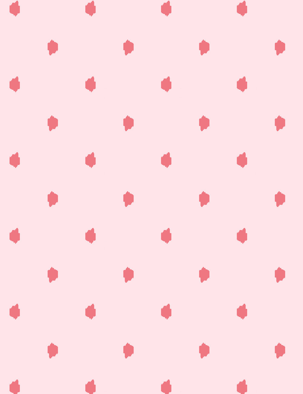 Medina Dot Removable Wallpaper - Pink - Wallshoppe