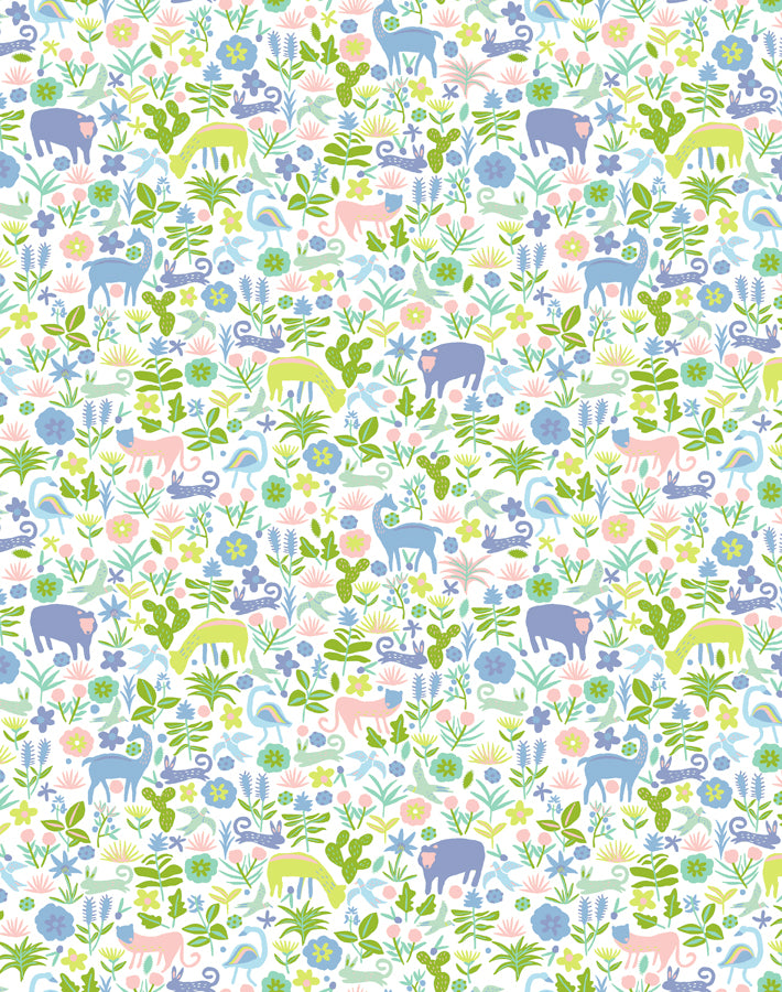 Menagerie Blush  Wallpaper