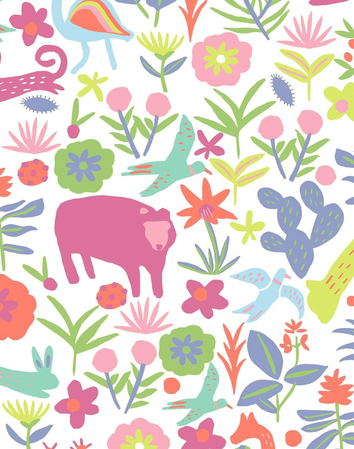 Menagerie Pink  Wallpaper