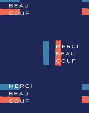Merci Flag Navy  Wallpaper