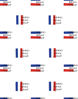 Merci Flag White  Wallpaper