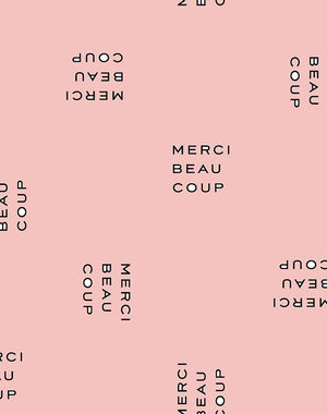 Merci Beaucoup Pink  Wallpaper