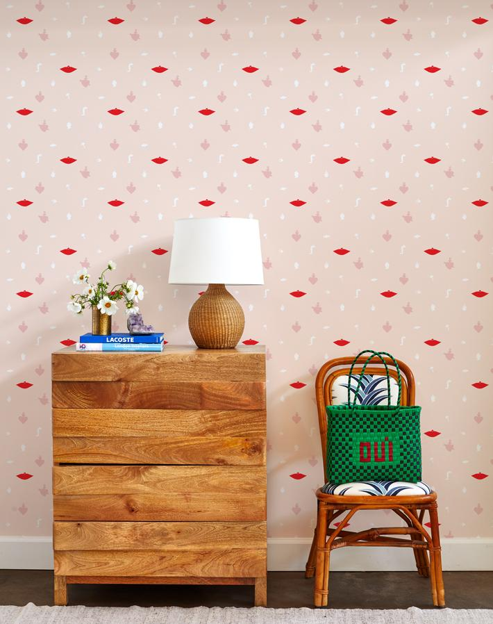 large milagros wallpaper pink on blush