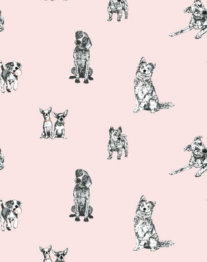 Mutts Pink  Wallpaper