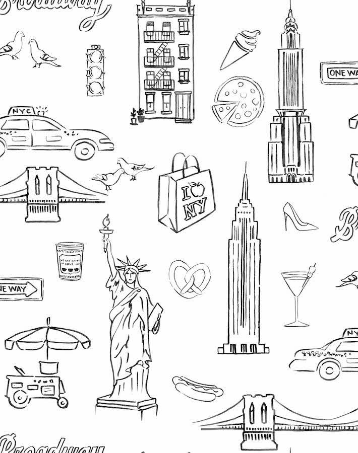 Nyc White  Wallpaper