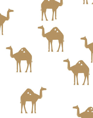 Oasis Camels White  Wallpaper