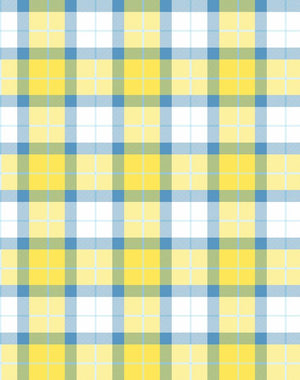 Oban Plaid Daffodil Blue  Wallpaper
