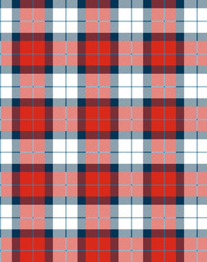 Oban Plaid Red Blue  Wallpaper