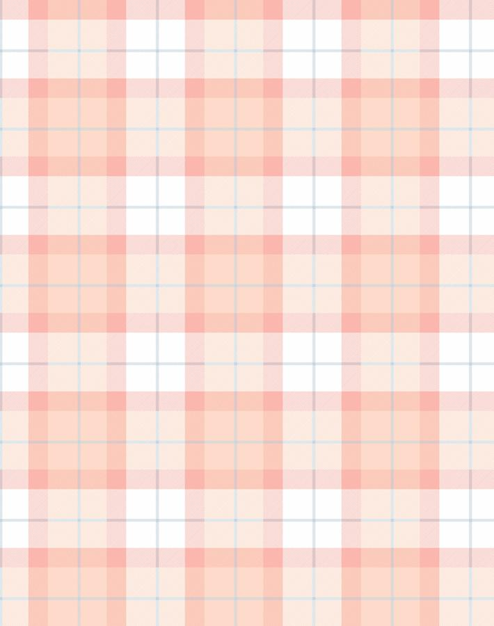 Oban Plaid Peach  Wallpaper
