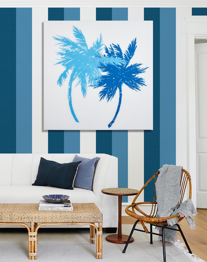 Oceanside Palms Large on Acrylic