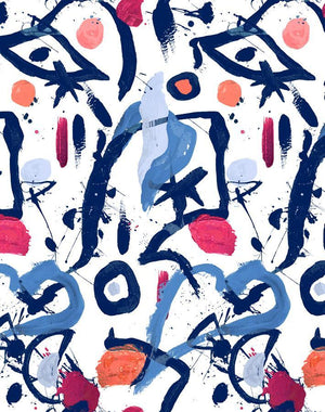 El Quijote Multi Blue Coral  Wallpaper
