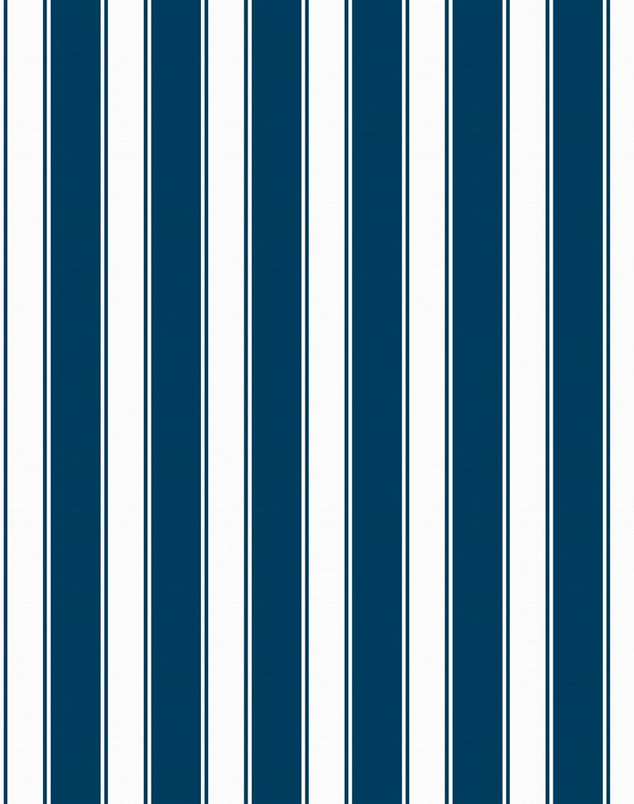 Wallshøppe Ojai Stripe Wallpaper - Navy