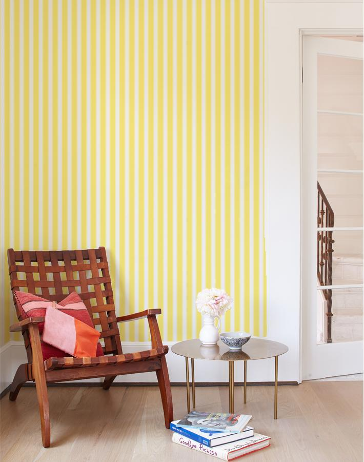 Wallshøppe Ojai Stripe Wallpaper - Yellow