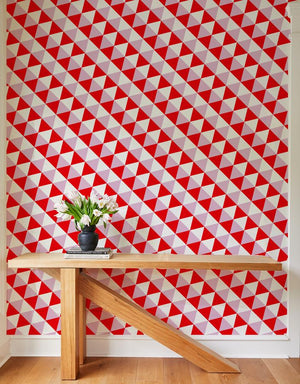 optic triangle wallpaper red lilac
