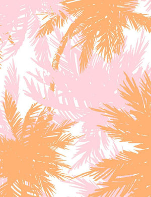 Palm Shuffle Creamsicle Blush  Wallpaper