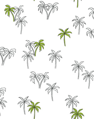Palms Lime  Wallpaper