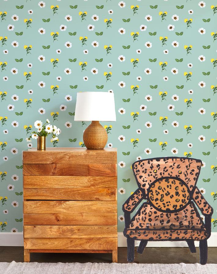 Parfumee Garden - Ocean Wallpaper by Carly Beck - Wallshoppe Removable & Traditional Wallpaper