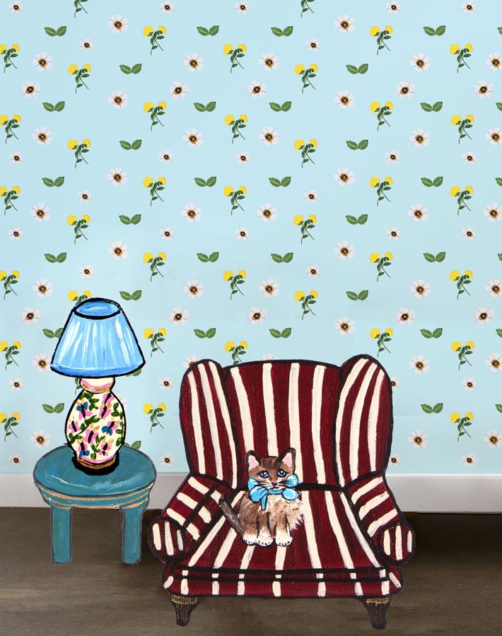 Parfumee Garden - Sky Wallpaper by Carly Beck - Wallshoppe Removable & Traditional Wallpaper