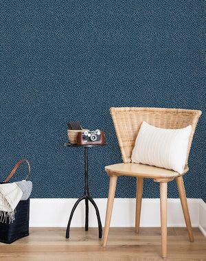 Pebble Wallpaper Roll - Navy [SALE]