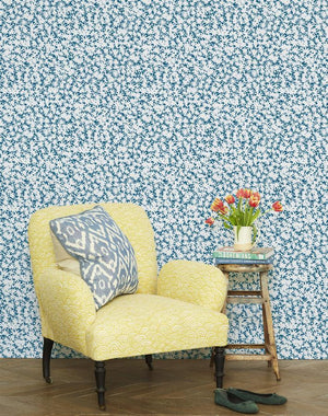 Peggy Sue Cadet Blue  Wallpaper