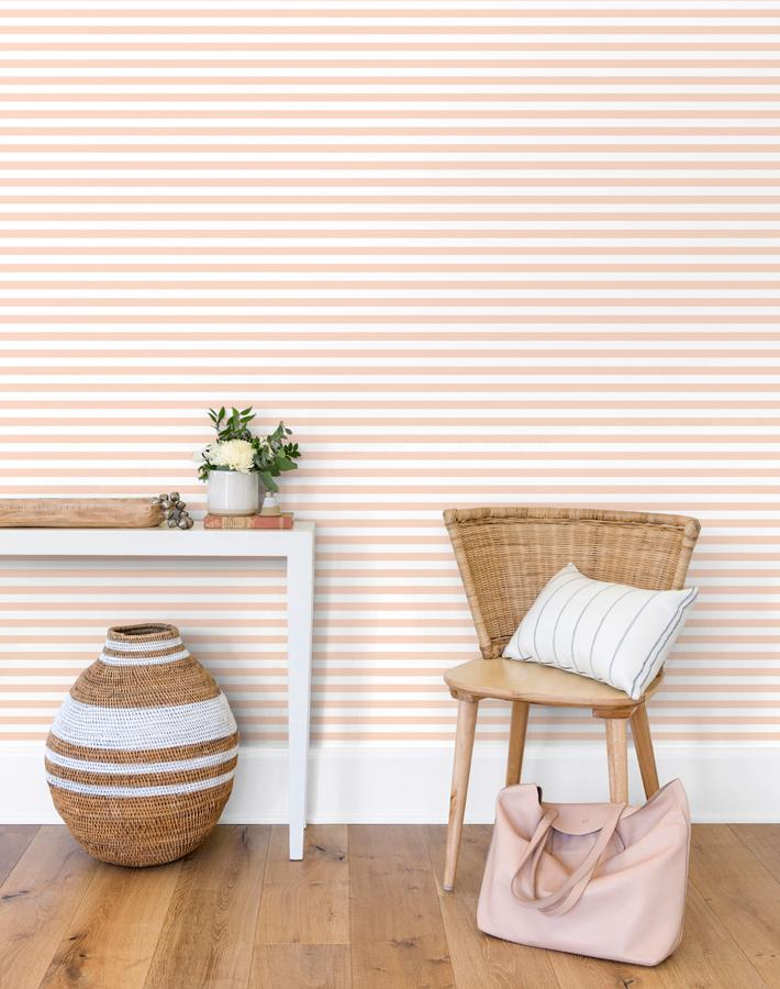 Cabana Stripe Removable Wallpaper - Pink - Wallshoppe