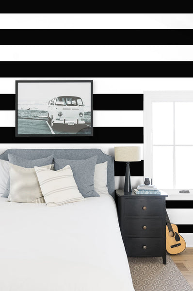 Rugby Stripe by Sugar Paper - Black - Wallshoppe