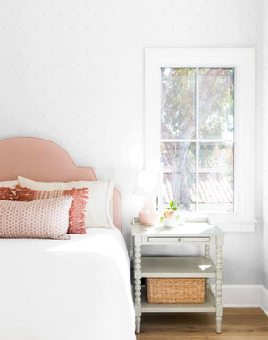 Signature Dot Pink On White  Wallpaper