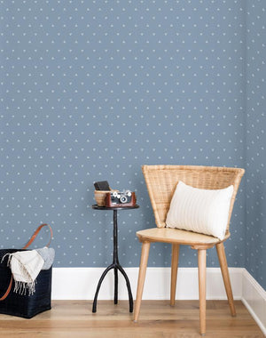 Dainty Dot French Blue  Wallpaper