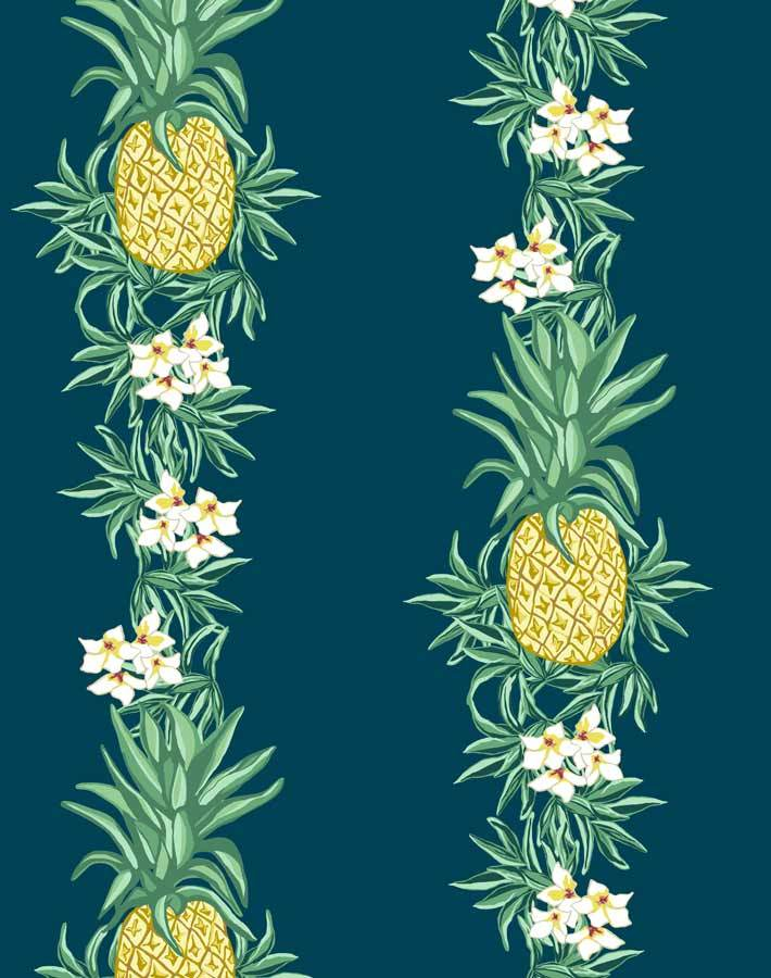 Pineapple Express Indigo  Wallpaper