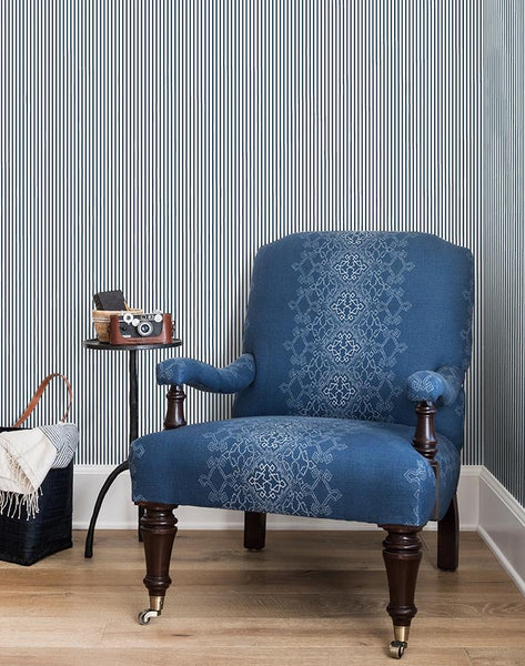 Pinstripe By Sugar Paper - Navy - Wallshoppe