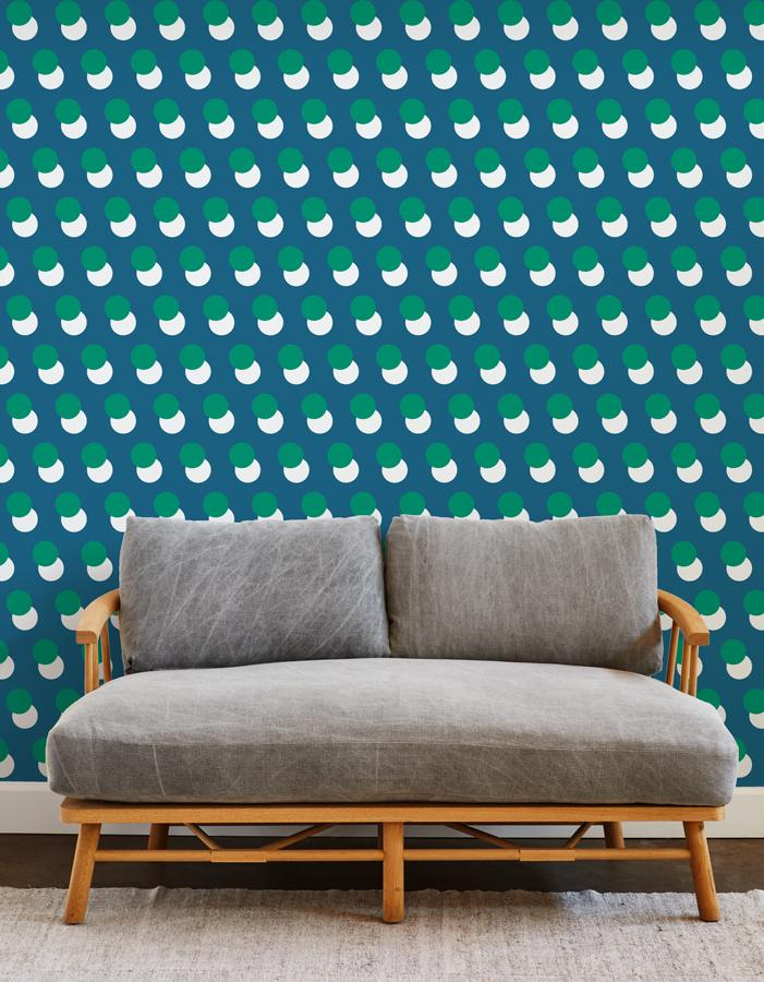 pop dots wallpaper blue