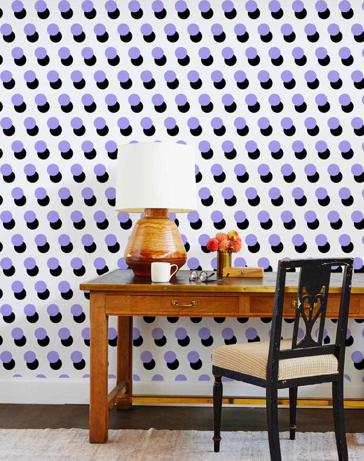 pop dots wallpaper lavender
