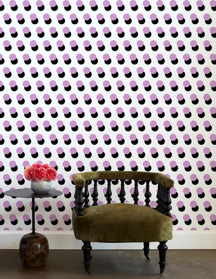 pop dots wallpaper lilac
