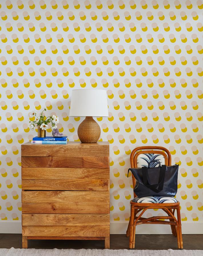 pop dots wallpaper marigold