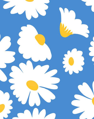 Pop Daisy Cerulean  Wallpaper