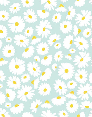 Pop Daisy Seafoam  Wallpaper