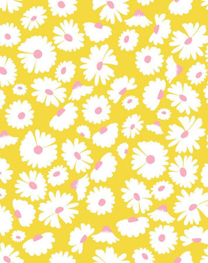 Pop Daisy Yellow  Wallpaper