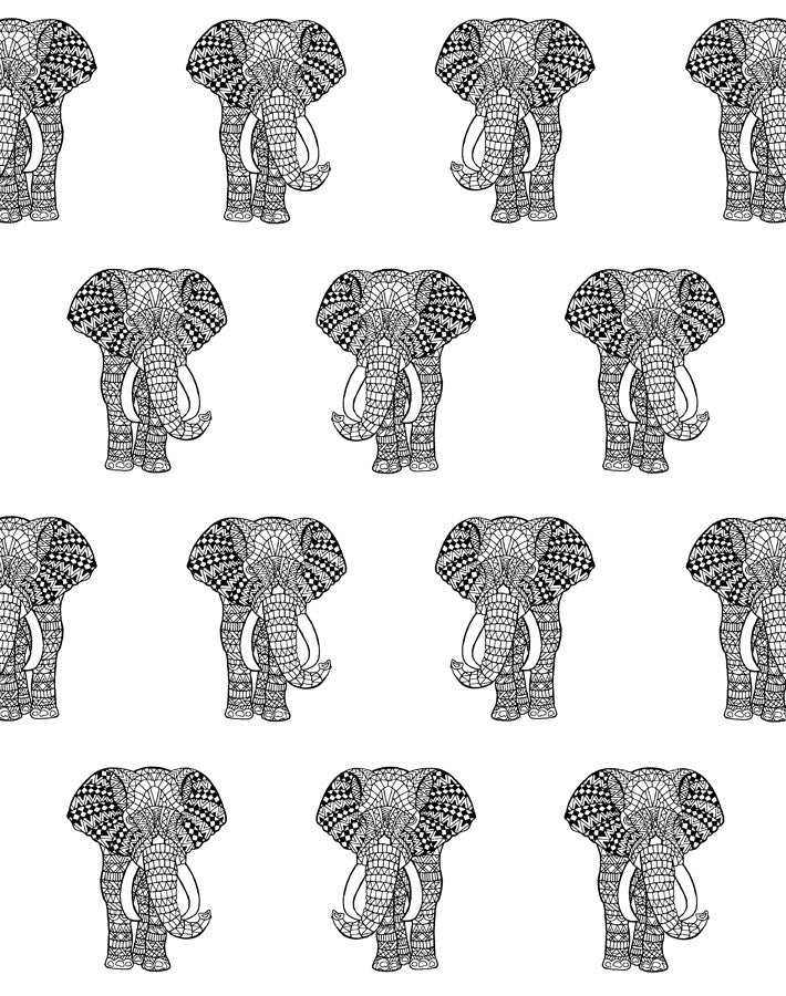 Raja the Elephant Wallpaper - Onyx